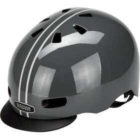 Nutcase Street MIPS Kask, suit and tie stripe matte reflective